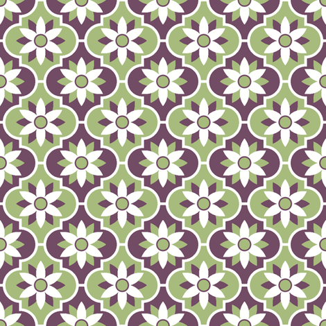 c-rhombus flower 2 - geometric fabric by sef on Spoonflower - custom fabric