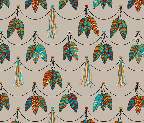 tickle_tassels fabric by loopy_canadian on Spoonflower - custom fabric