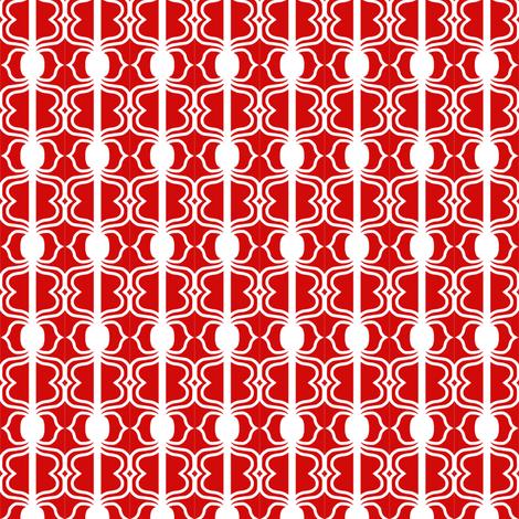 Valentine Red White fabric by eve_catt_art on Spoonflower - custom fabric