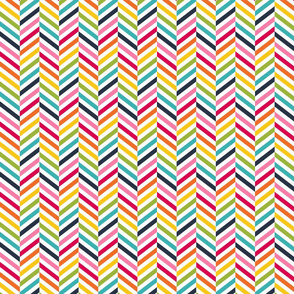 live free : love life herringbone LARGE rainbow