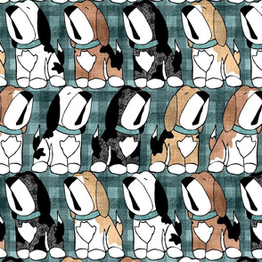 Chorus of Beagles on Plaid