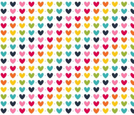 live free : love life hearts LARGE rainbow fabric by misstiina on Spoonflower - custom fabric