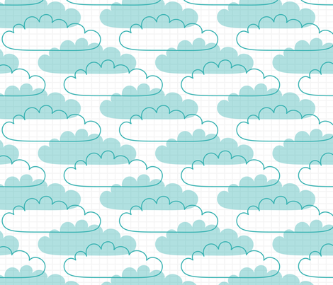 live free : love life clouds LARGE fabric by misstiina on Spoonflower - custom fabric