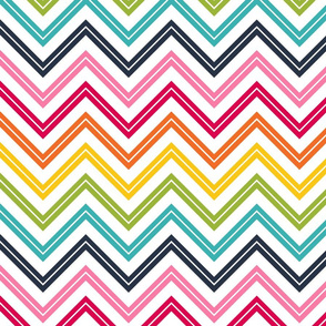 live free : love life chevron 2 LARGE rainbow