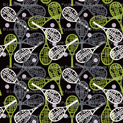 Tennis in Lime & Gray