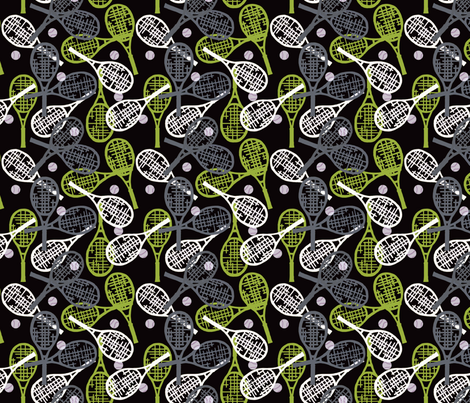 Tennis in Lime & Gray fabric by lauriekentdesigns on Spoonflower - custom fabric