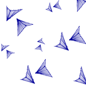 geo birds blue