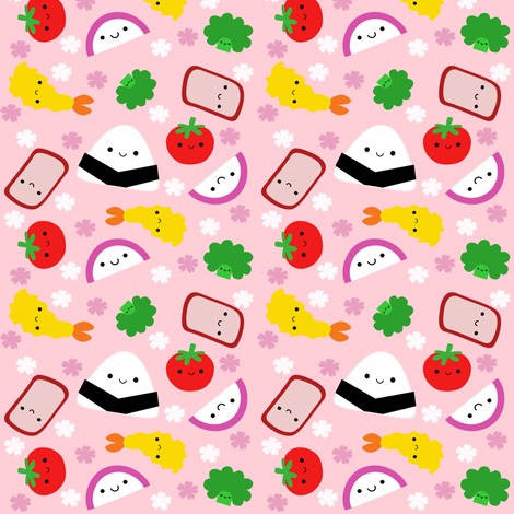 Bento Buddies fabric by clayvision on Spoonflower - custom fabric