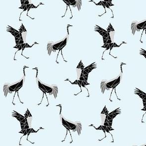 cranes black blue