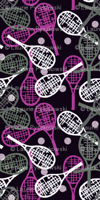 Tennis Racquets Pink, Gray/Brown & White