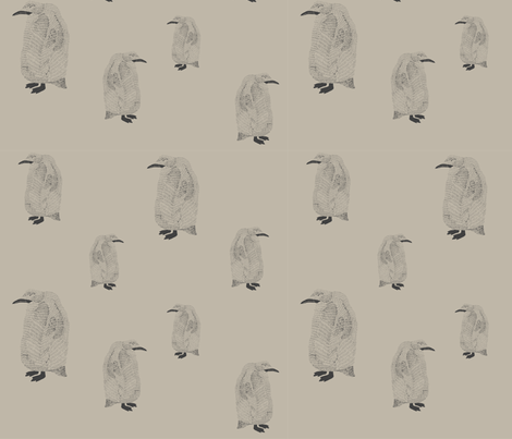 penguin light grey fabric by igotstripes_studio on Spoonflower - custom fabric