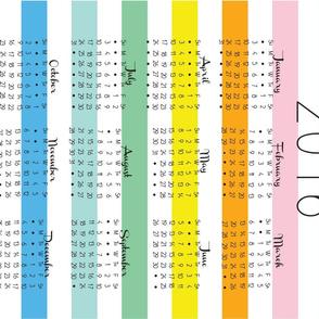 Mod Calendar Tea Towel, 2016