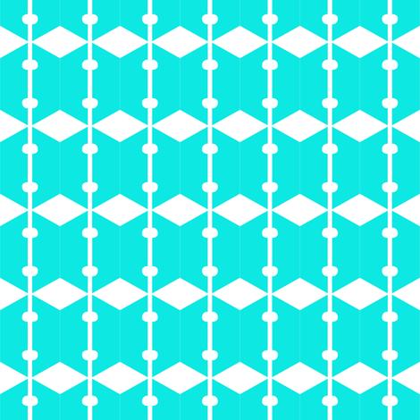 Diamonds Aqua White 2 fabric by eve_catt_art on Spoonflower - custom fabric