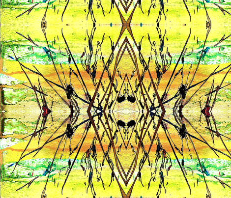 Dancing for the Sun fabric by abstractionsbyronda on Spoonflower - custom fabric