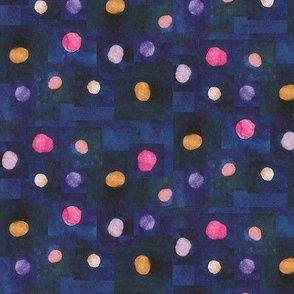 Watercolors Polka Dots
