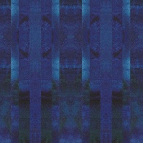 Watercolors Dark Blue Linear Kaleidoscope