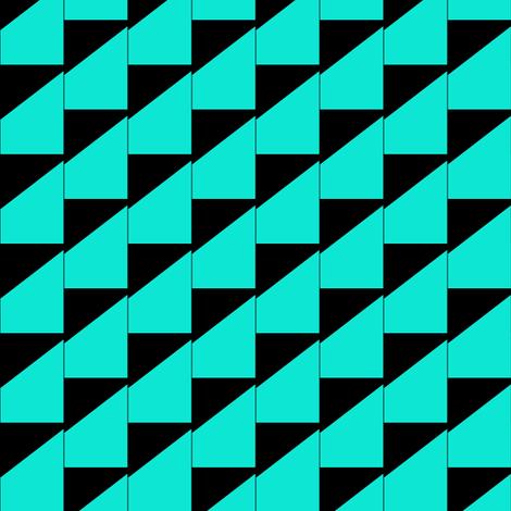 Stairway Aqua Black fabric by eve_catt_art on Spoonflower - custom fabric