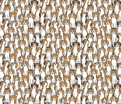101 beagles fabric by analinea on Spoonflower - custom fabric