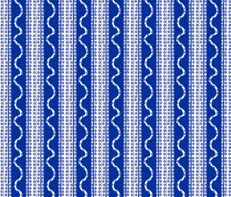 Snail Trail Cobalt fabric by lulabelle on Spoonflower - custom fabric