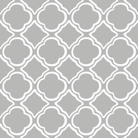Ogee Garden Trellis Grey fabric by lulabelle on Spoonflower - custom fabric