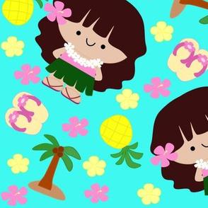 Hula Girls -Teal