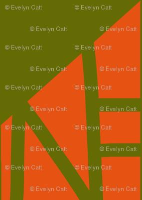 Diamonds Army Green Orange 1