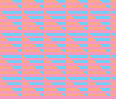 pink blue peach stripes triangle fabric by pencilmein on Spoonflower - custom fabric