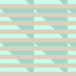 tan double mint stripes triangle