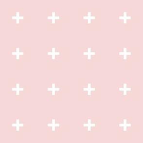 white cross pale pink