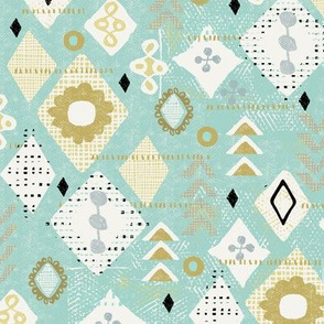 southwestern gems-dusty mint