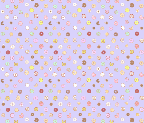 Donut You Want Some (purple) fabric by call_me_chartreuse on Spoonflower - custom fabric