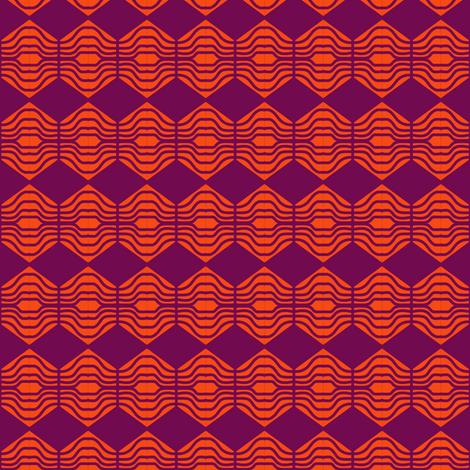 Diamonds Orange Purple 1 fabric by eve_catt_art on Spoonflower - custom fabric