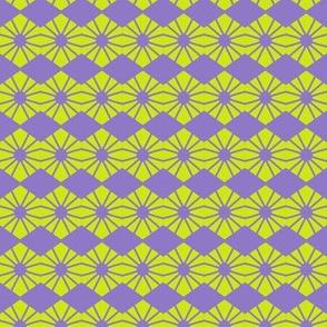 Spider Diamonds Yellow Purple