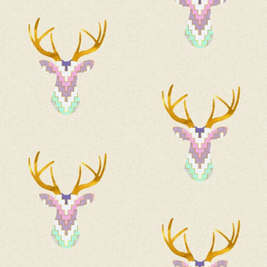 Telluride Deer in Violet and Mint