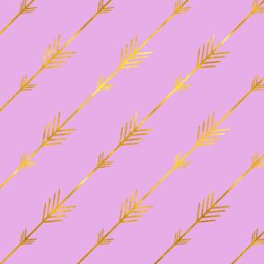 Golden Arrows on Violet