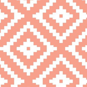 Aztec // light coral