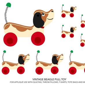Vintage Beagle Pull Toy