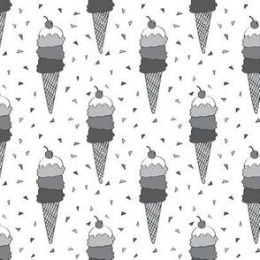 Monochrome Icecream Cones
