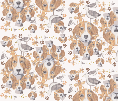 BEEGULL fabric by chovy on Spoonflower - custom fabric