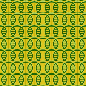 Overlapping Ovals Gold Green