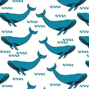 whales // teal fabric andrea lauren fabric whale scandi style nursery fabric