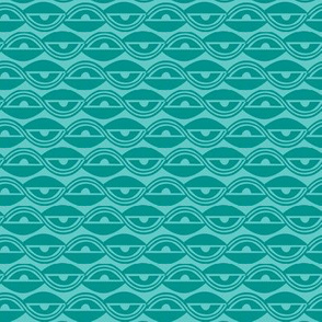 Lazy Days - Geometric Spring Fling Aqua