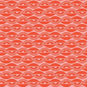 Lazy Days - Geometric Spring Fling Red