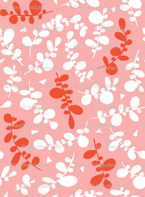 Sweet Pea - Geometric Leaves Spring Fling Pink