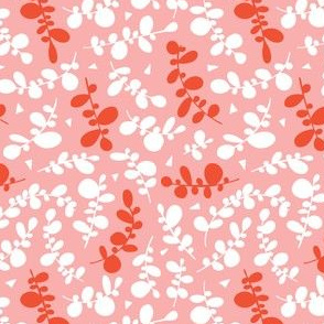 Sweet Pea - Geometric Leaves Spring Fling Pink