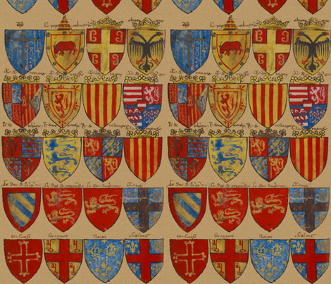 Knights of The Round Table ~ Original Palette fabric by peacoquettedesigns on Spoonflower - custom fabric