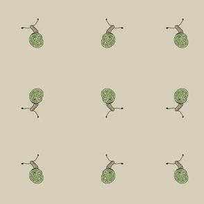 snail doodle - tan