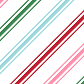 christmas candy cane stripes multi XL