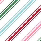 christmas candy cane stripes multi XL