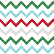 christmas chevron multi two XL
